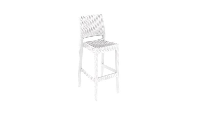Барный стул белый