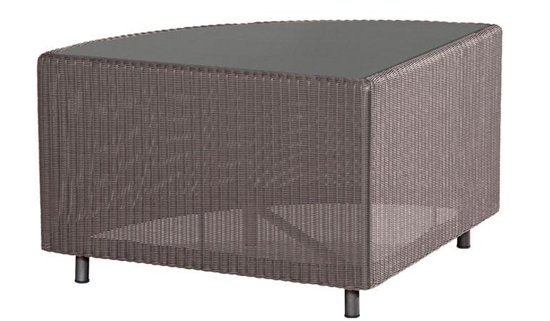 Модуль углового стола со стеклом Аспен