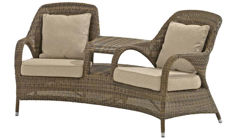 Кресло двухместное с подушками Mocca