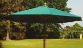 Зонт темно-зеленый восьмигранный Alexanderrose 3х3 м