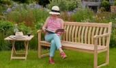 Комплект №16 садовая скамейка + 1 столик складной