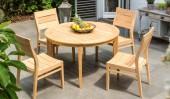Комплект №17 стол круглый + 4 стула