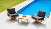 Комплект №1 столик журнальный + 2 вращающихся кресла с подушками