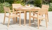Комплект №22 стол круглый + 4 кресла