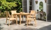 Комплект №29 стол круглый + 4 кресла
