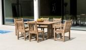 Комплект #1 стол прямоугольный + 2 кресла + 4 стула