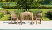 Комплект #7 стол квадратный + 2 кресла