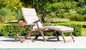 Комплект #15 шезлонг с подушкой + стол
