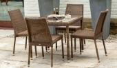 Комплект #15 стол квадратный + 4 кресла