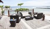 Комплект #1 диван 2-местный + 2 кресла + журнальный стол + тумба