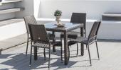 Комплект #3 стол квадратный + 4 стула