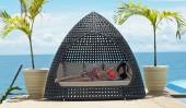 Комплект #9 диван с плетеной крышей + 6 подушек
