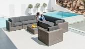 Комплект #2 диван модульный + стол журнальный + кресло