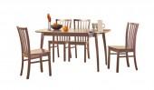 Обеденная группа: стол «Спайдер» и стулья «Конкорд»
