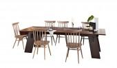Обеденная группа: стол «Бруно» и 6 стульев «Самурай»