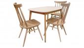 Обеденная группа: стол «Спайдер мини» и 3 стула «Самурай»