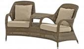 «Сассекс» двухместное кресло с подушками «Mocca»